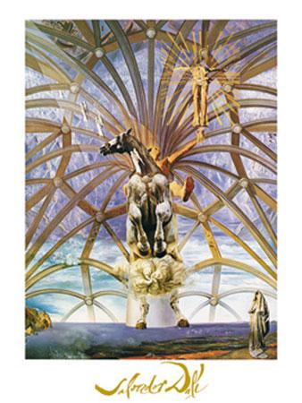 Santiago el grande Kunstdruck mit Folienprägung Dali Salvador