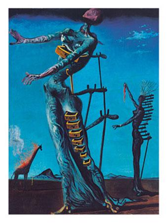 Die brennende Giraffe Kunstdruck Dali Salvador