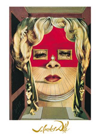 Il volto di Mae West Kunstdruck mit Folienprägung Dali Salvador