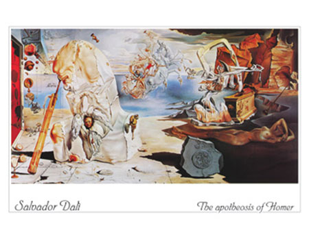The apotheosis of Homer Kunstdruck Dali Salvador