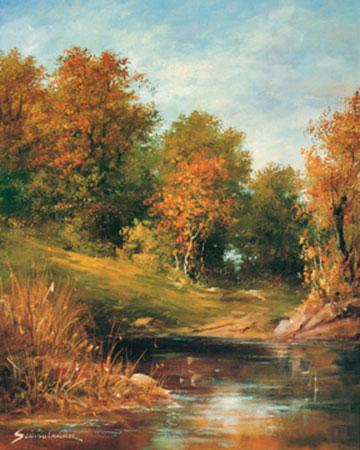 Herbst Kunstdruck Springet Mike