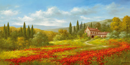 Tuscan Beauty II Kunstdruck Springet Mike