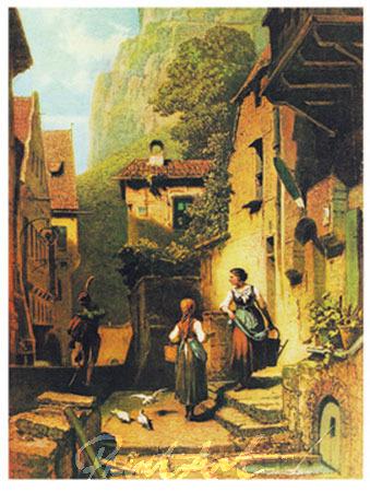 Der Husar Kunstdruck Spitzweg Carl