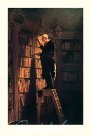 Der Bücherwurm Kunstdruck Spitzweg Carl