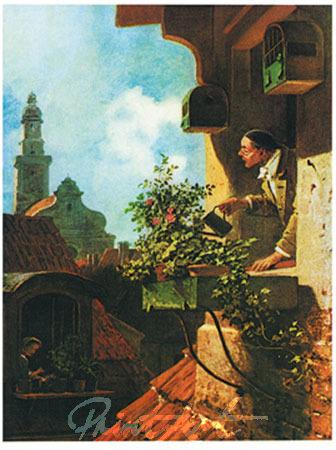 Im Dachstübchen Kunstdruck Spitzweg Carl