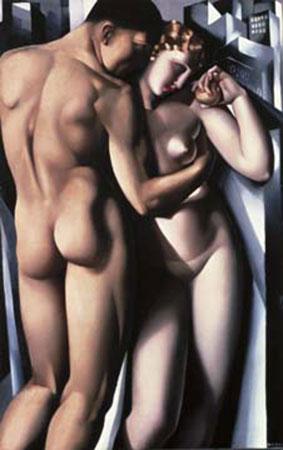 Adam et Eve Kunstdruck De Lempicka Tamara