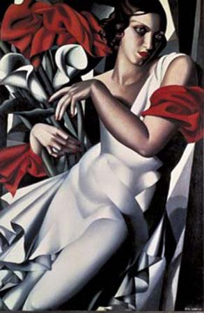 Portrait de Mme Ira Perrot Kunstdruck De Lempicka Tamara