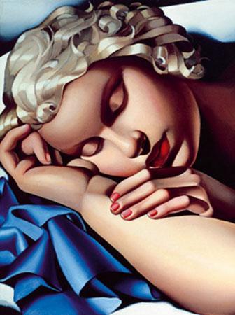 La dormiente Kunstdruck De Lempicka Tamara