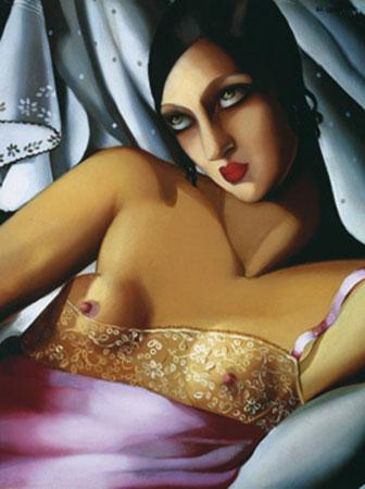 Le Chemise Rose Kunstdruck De Lempicka Tamara