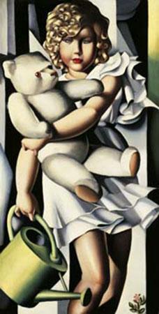 Portrait de Mlle. Poum Rachou Kunstdruck De Lempicka Tamara