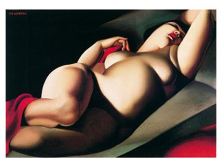 La belle Rafaelo Kunstdruck De Lempicka Tamara