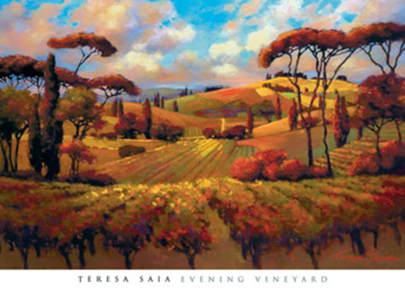 Evening Vineyard Kunstdruck Saia Teresa