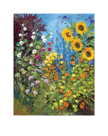 Sommergarten Kunstdruck von der Wehl Ute