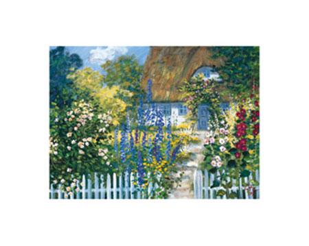 Hinterm Gartenzaun Kunstdruck von der Wehl Ute