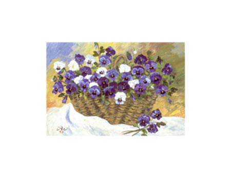 Frühlingskorb Kunstdruck von der Wehl Ute