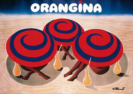 Orangina Kunstdruck Villemot Bernard