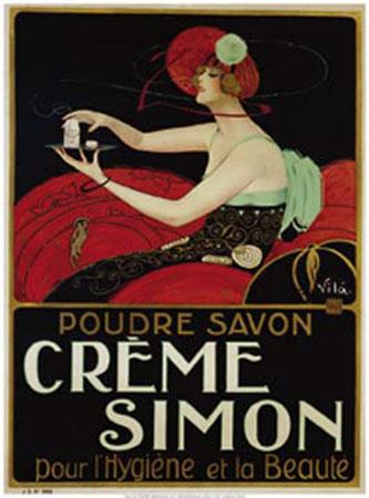 Crème Simon Kunstdruck Vila