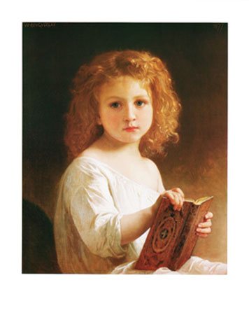The Story Book Kunstdruck Bourguereau William