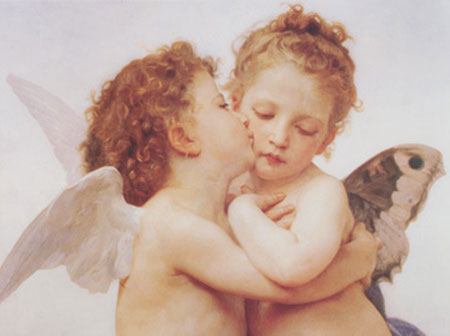 The first Kiss Kunstdruck Bourguereau William