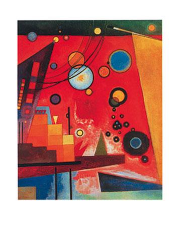 Schweres Rot Kunstdruck Kandinsky Wassily