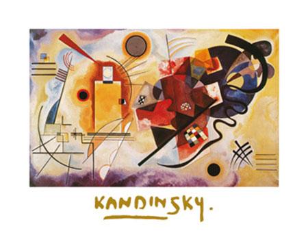 Jaune, Rouge, Bleu Kunstdruck mit Folienprägung Kandinsky Wassily