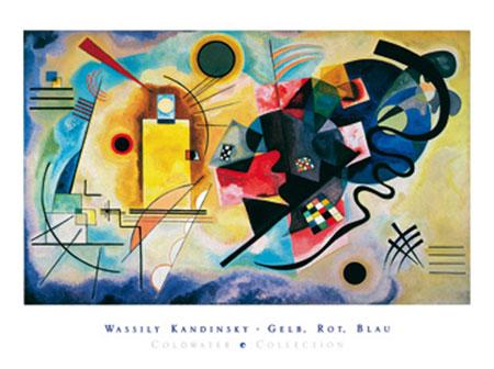 Gelb, Rot, Blau Kunstdruck Kandinsky Wassily