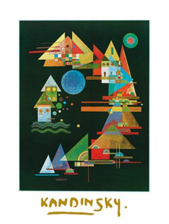 Spitzen im Bogen, 1927 Kunstdruck mit Folienprägung Kandinsky Wassily