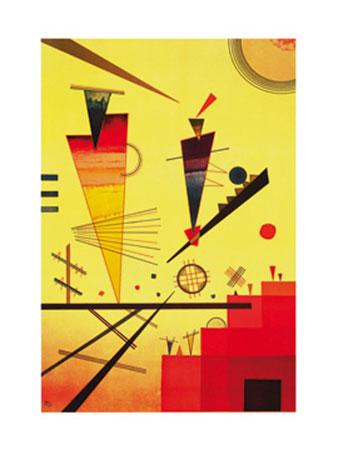 Structure joyeuse Kunstdruck Kandinsky Wassily