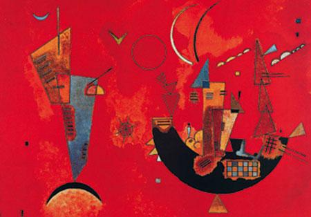 Mit und Gegen Kunstdruck Kandinsky Wassily