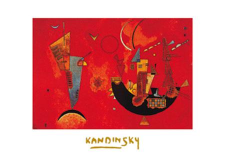 Mit und Gegen Kunstdruck mit Folienprägung Kandinsky Wassily