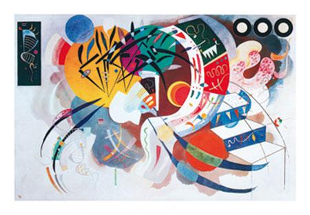Dominant curve Kunstdruck Kandinsky Wassily