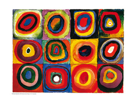 Farbstudie Quadrate Kunstdruck Kandinsky Wassily