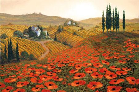 Hills of Tuscany II Kunstdruck Wynne Steve