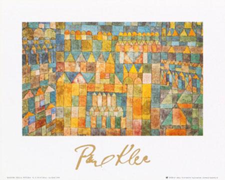 Tempelviertel von Pert, 1928 Kunstdruck mit Folienprägung Klee Paul