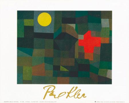 Incendio la luna piena, 1933 Kunstdruck mit Folienprägung Klee Paul
