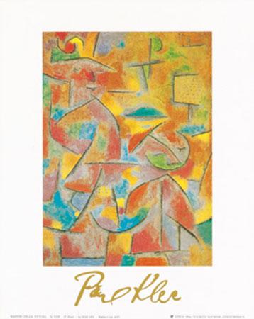 Bimba e zia, 1937 Kunstdruck mit Folienprägung Klee Paul