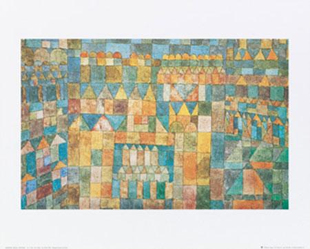 Tempelviertel von Pert, 1928 Kunstdruck Klee Paul