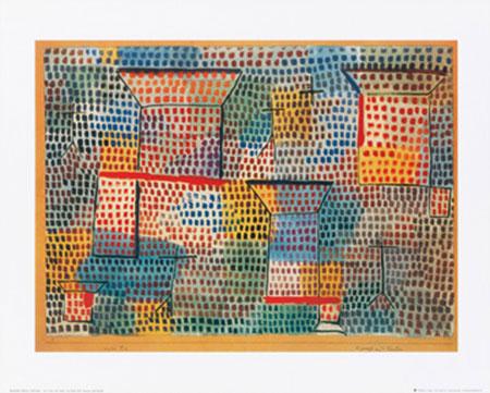 Kreuze und Säulen Kunstdruck Klee Paul