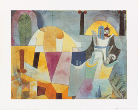 Landscape with black columns Kunstdruck Klee Paul