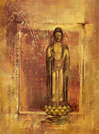 Contemplation I Spiegelfolie gold Ying-Wu Wei