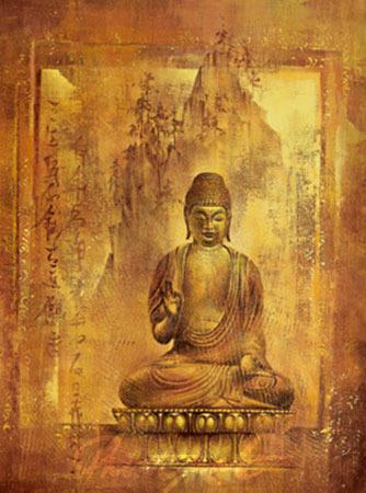 Contemplation II Spiegelfolie gold Ying-Wu Wei