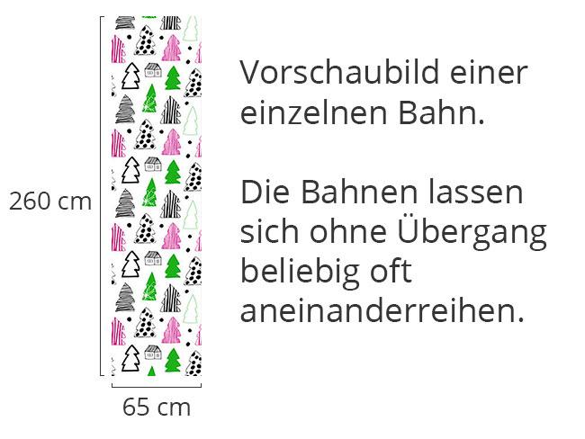 Designtapete Gemalte Tannenwälder