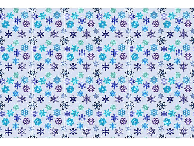 Designtapete Schneeflocken Silhouetten