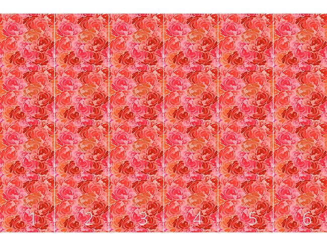 Designtapete Mit Rosen Bedeckt