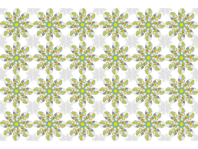 Designtapete Blume In Einer Blume
