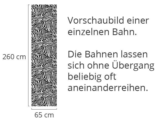 Designtapete Zebra Schwarz Weiss