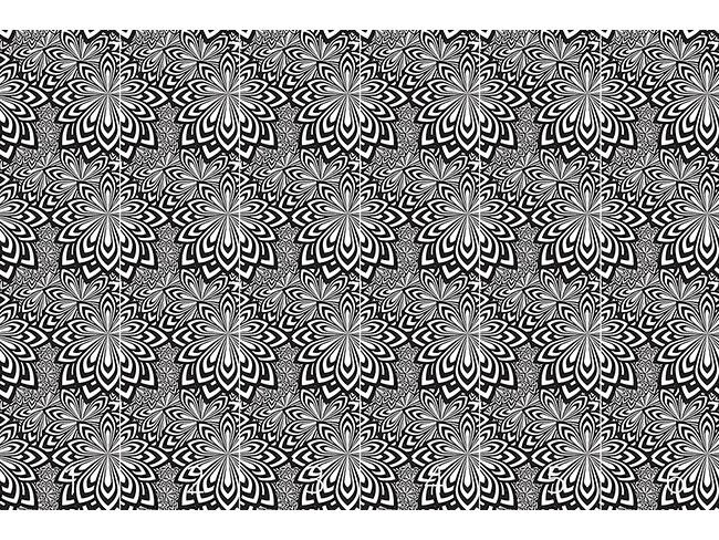 Designtapete Psychedelische Blumen