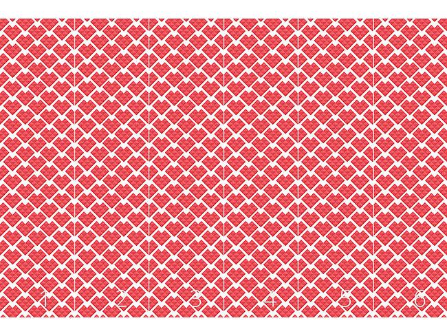 Designtapete Herzen Aus Dreiecken