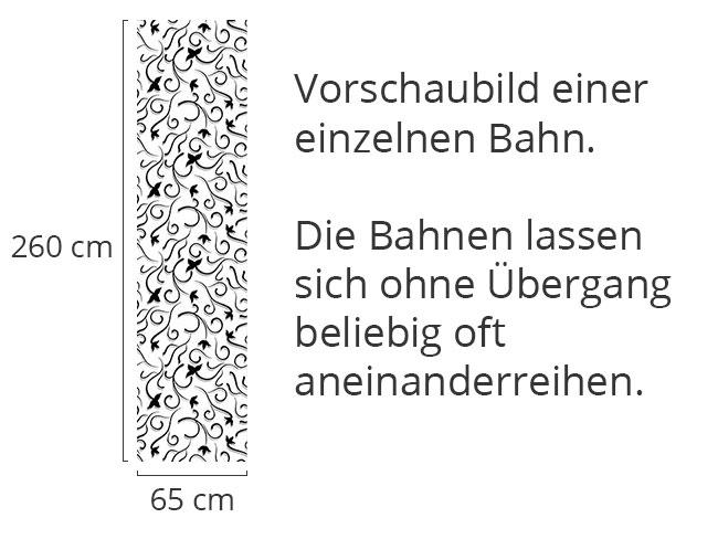 Designtapete Efeu in Schwarz-Weiss