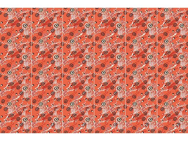 Designtapete Apricot Flora